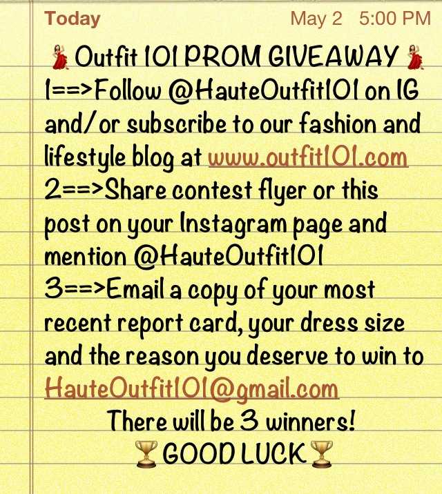 Contest Rules#INeedAPromDress